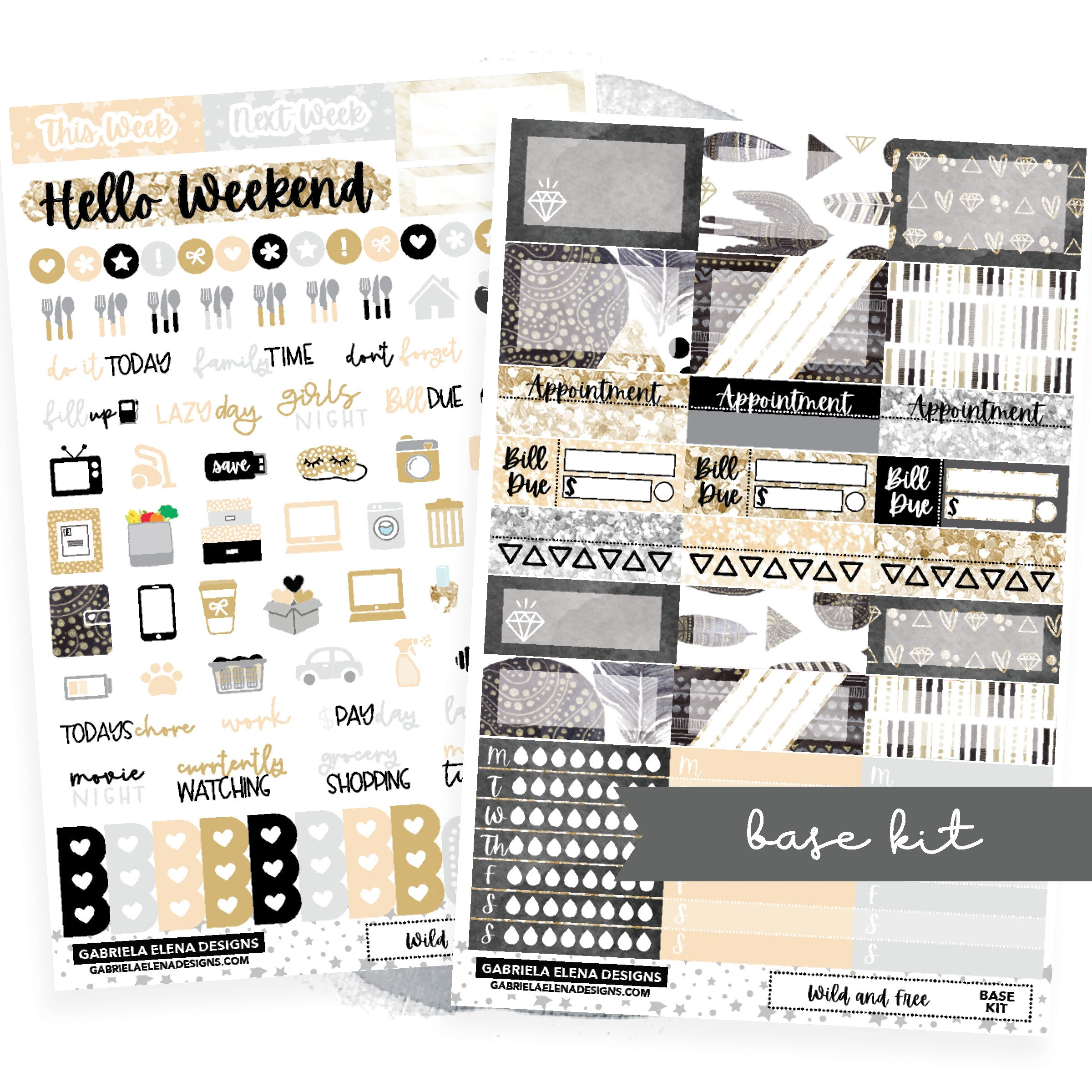 Wild and Free // BASE KIT / Icons / Functional / Sticker Kit