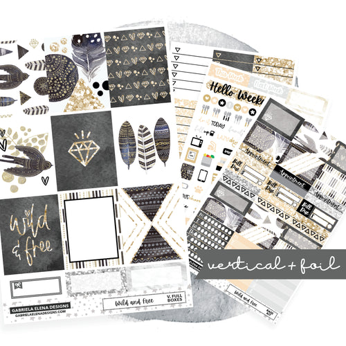Wild and Free // EC VERTICAL / Sticker Kit / FOIL