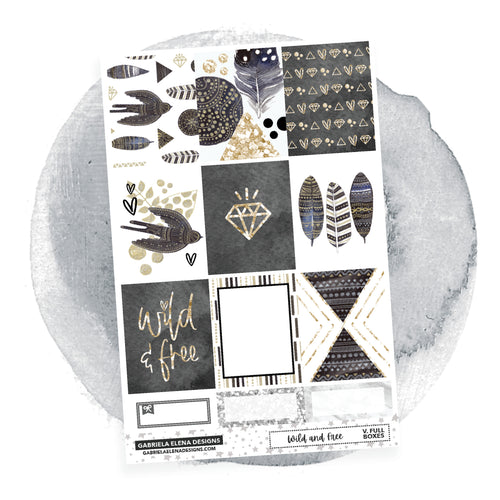 Wild and Free // a la carte / Sticker Kit / Full Boxes / FOIL