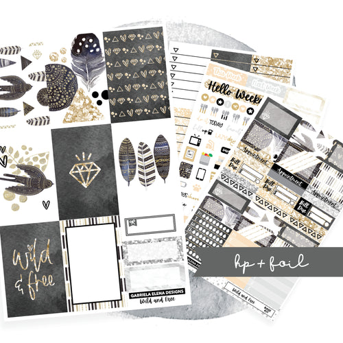 Wild and Free // CLASSIC HAPPY PLANNER / Sticker Kit / FOIL