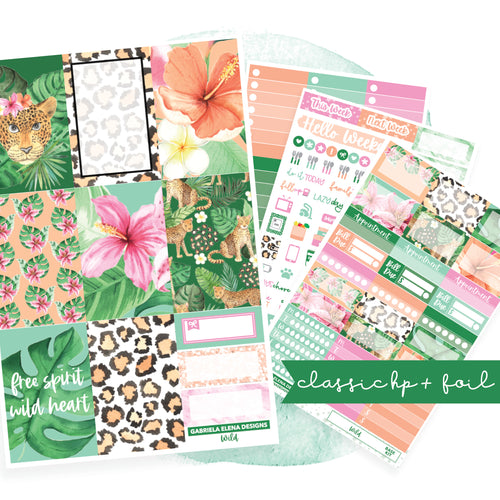 Wild // CLASSIC HAPPY PLANNER / Sticker Kit / FOIL