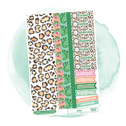 Wild // a la carte / Sticker Kit Add On / Washi and Date Covers / FOIL