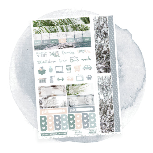Winter / HOBONICHI WEEKS // Sticker Kit