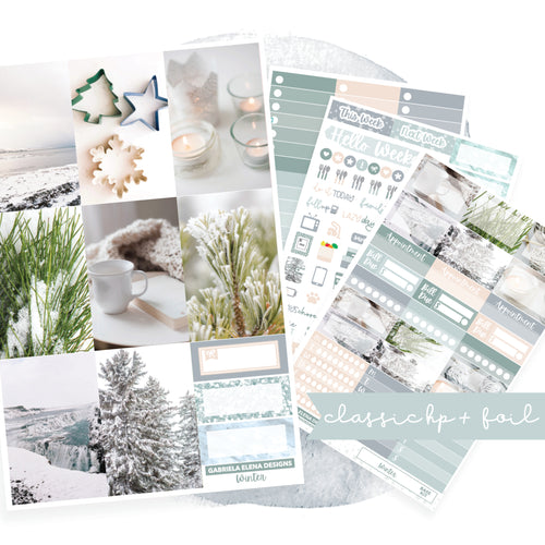 Winter // CLASSIC HAPPY PLANNER / Sticker Kit / FOIL