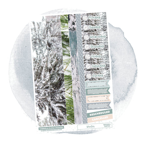 Winter // a la carte / Sticker Kit Add On / Washi and Date Covers / FOIL