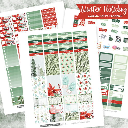 CLASSIC HAPPY PLANNER Printable / Instant Download / Winter Holiday