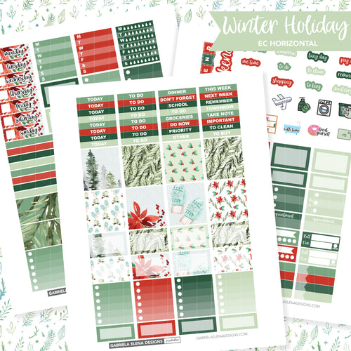 HORIZONTAL Printable / Instant Download / Winter Holiday