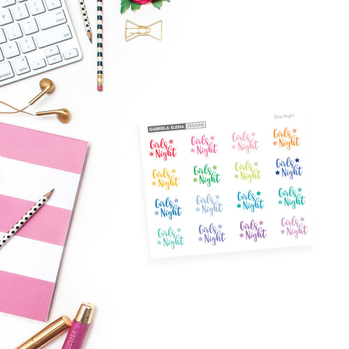 Girls Night / Word Stickers