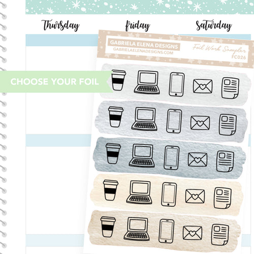 Work Sampler / FOIL Stickers / Choose Your Foil / Neutrals