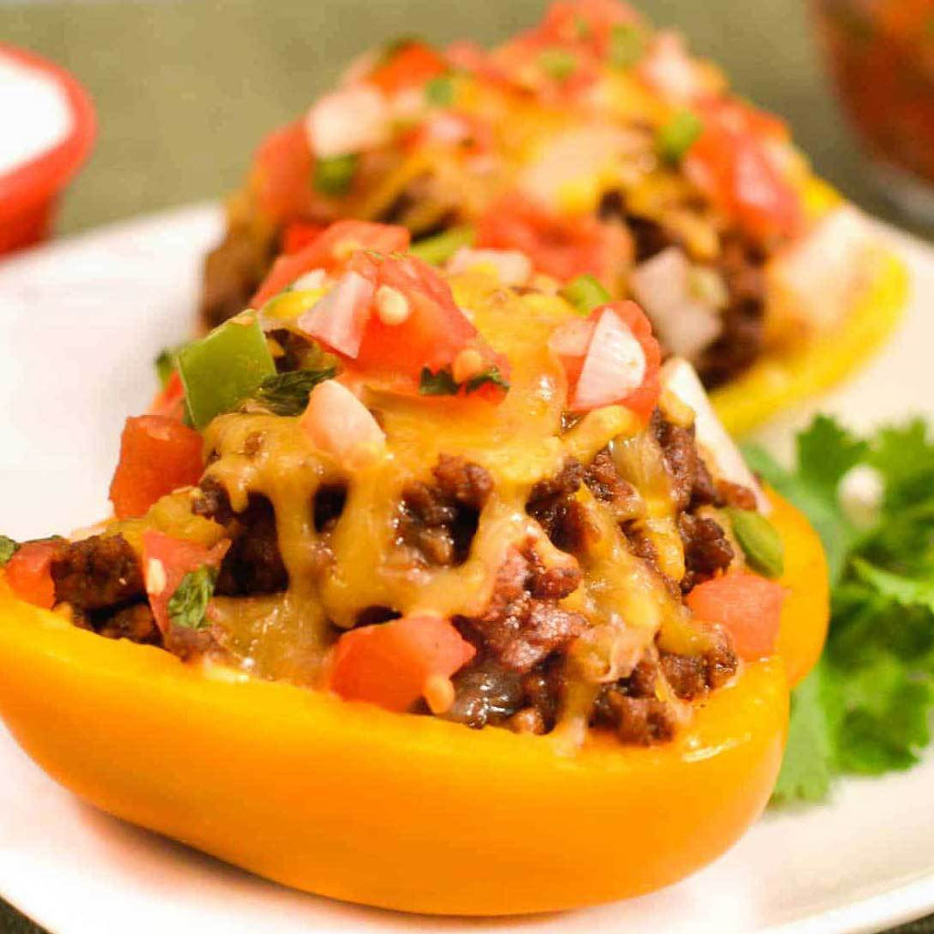 Fall Recipes - Mexican Stuffed Peppers (Lunch or midday snack)