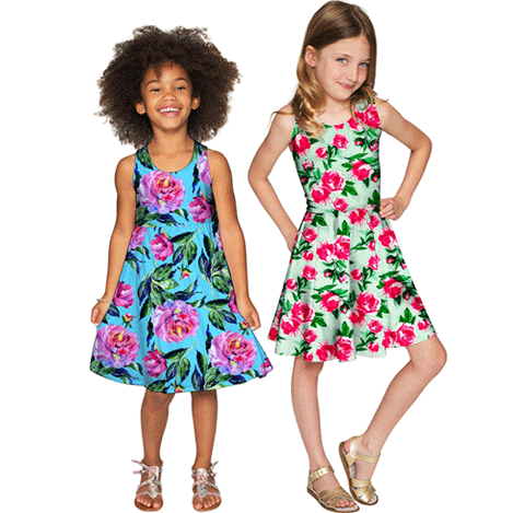 Floral Prints and Bright Colors for Girl's Special Occasions