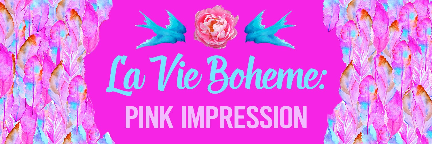 P0549 Impression Pink Boho Feather Print
