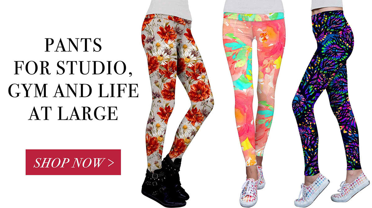 yoga pants printed performance leggings