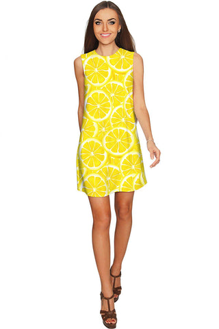 A Piece of Sun Adele Bright Yellow Printed Shift Dress - Women