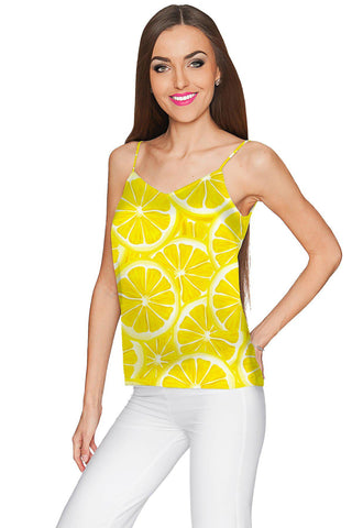A Piece of Sun Ella Yellow V-Neck Perfect Summer Camisole - Women