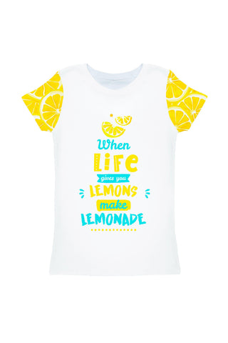 A Piece of Sun Zoe White Designer Quote Print T-Shirt - Girls - Pineapple Clothing