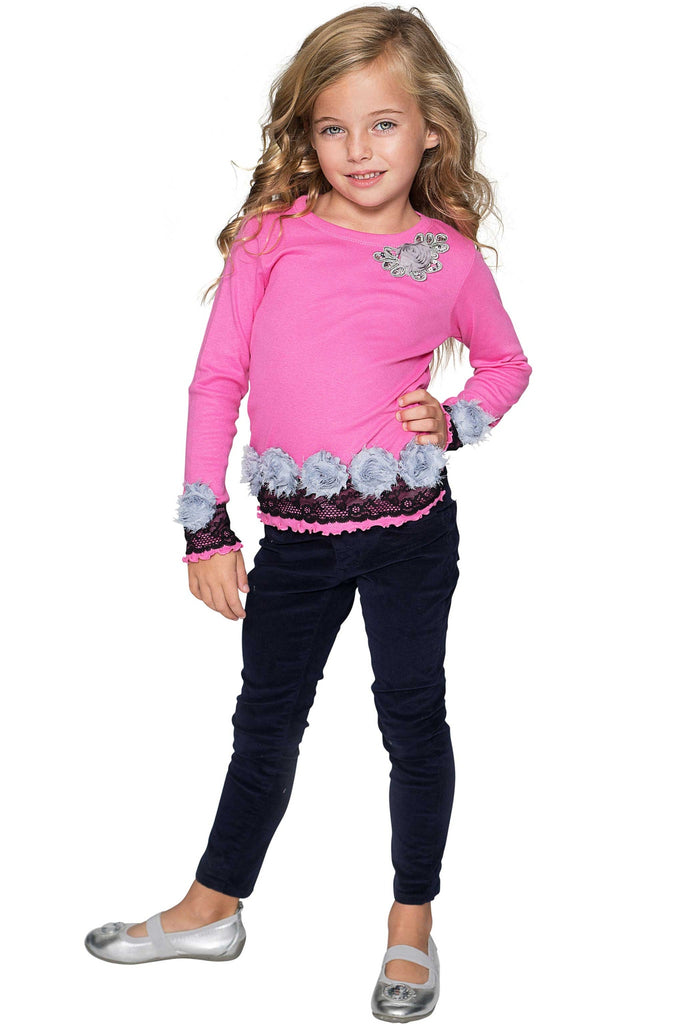 Adorable Pink Dressy Top - Girls - Pineapple Clothing