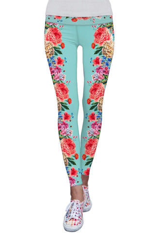 Amour Lucy Floral Printed Performance Leggings - Women - Pineapple Clothing