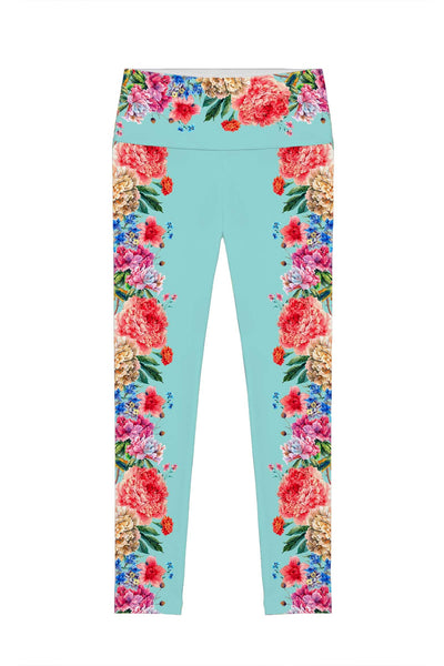 Amour Lucy Floral Printed Performance Leggings - Women