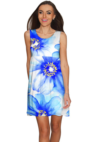 Aurora Sanibel Floral Empire Waist Sundress - Women - Pineapple Clothing