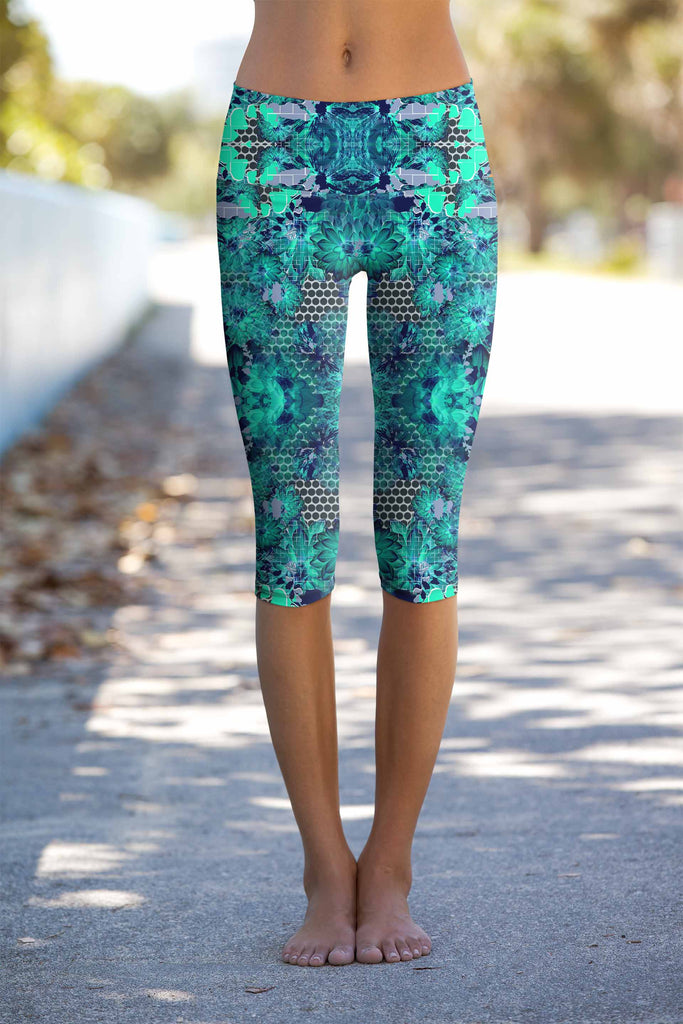 Awakening Ellie Eco-Friendly Performance Yoga Capri Leggings - Women
