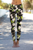 Black Muse Lucy Printed Performance Leggings - Women - Pineapple Clothing