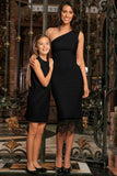Black Stretchy Trendy Party Must-Have Chic Mommy and Daughter Dresses