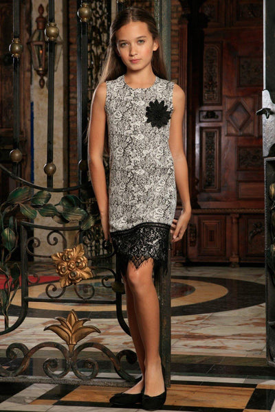 Black White Stretchy Sleeveless Shift Party Dress With