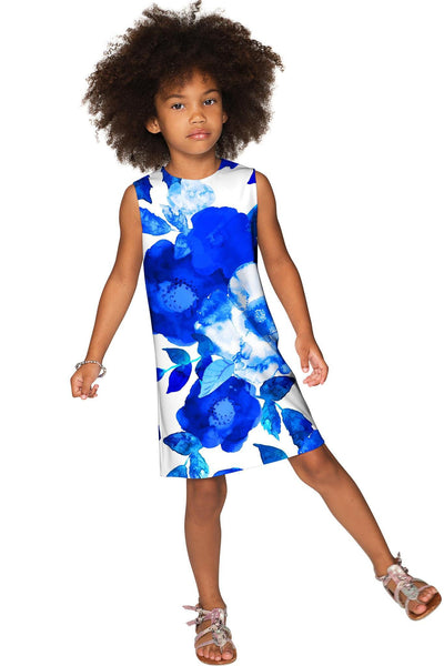 Blue Blood Adele Trendy Summer Printed Shift Dress - Girls