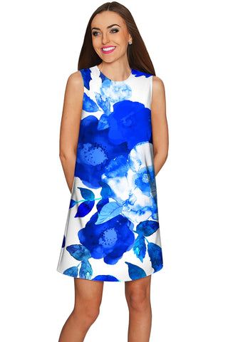 Blue Blood Adele Floral Catchy Summer Shift Dress - Women - Pineapple Clothing