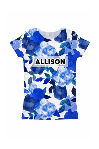 Blue Blood Customized NAME Zoe T-Shirt - Girls - Pineapple Clothing