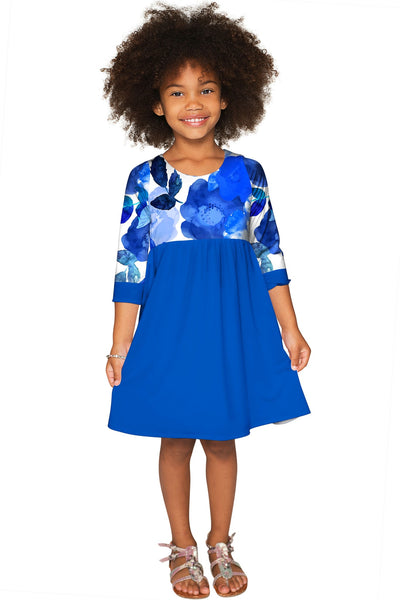 Blue Blood Gloria Empire Waist Cute Dress - Girls