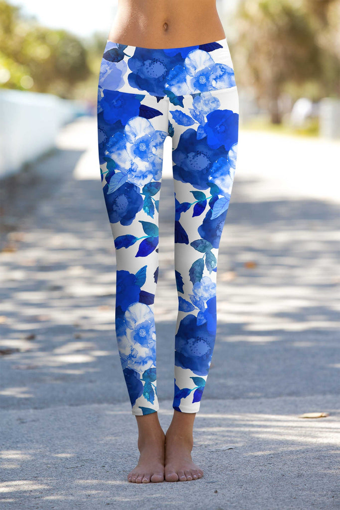 Blue Blood Lucy Floral Printed Performance Leggings - Women - Pineapple Clothing