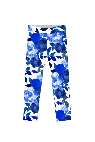 Blue Blood Lucy Cute Floral Printed Stretch Leggings - Girls