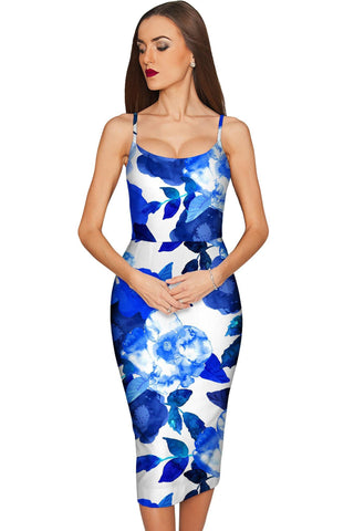 Blue Blood Olivia Bodycon Midi Dress - Women - Pineapple Clothing