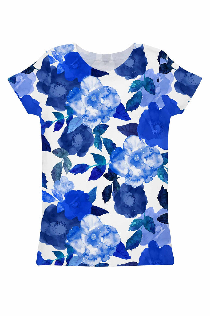 Blue Blood Zoe Floral Print Designer T-Shirt - Women - Pineapple Clothing
