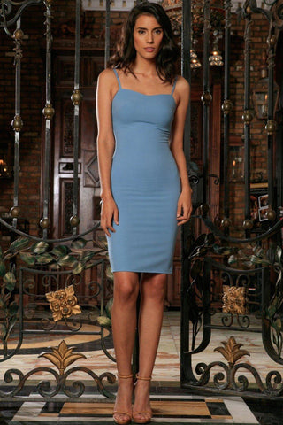3ab044feb7cb Blue Stretchy Sweetheart Neckline Evening Party Bodycon Dress - Women - Pineapple  Clothing