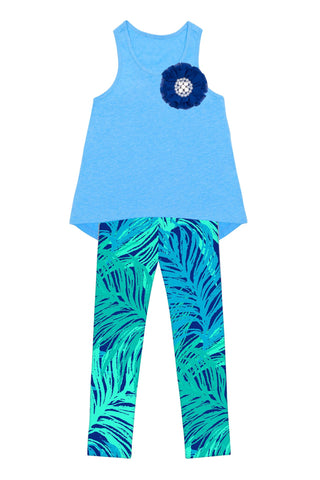 Blue Tropical Dream Donna Set - Girls - Pineapple Clothing