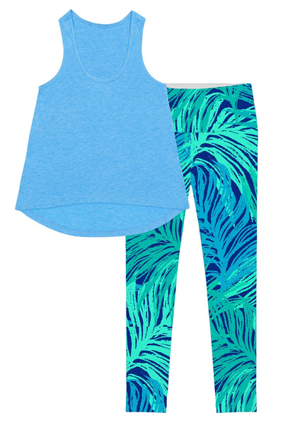Blue Tropical Dream Donna Set - Women