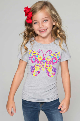 Butterfly Tee - Girls - Pineapple Clothing