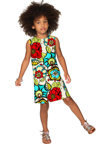 Carnaval Adele Beautiful Colorful Print Shift Dress - Girls - Pineapple Clothing