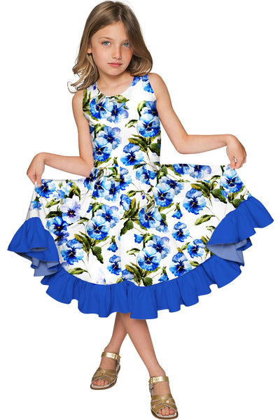 Catch Me Vizcaya Fit & Flare Floral Print Fancy Dress - Girls