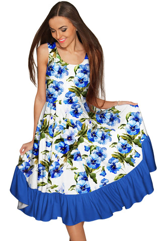 Catch Me Vizcaya Fit & Flare Cocktail Summer Dress - Women - Pineapple Clothing
