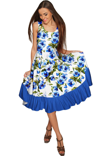 Catch Me Vizcaya Fit & Flare Cocktail Summer Dress - Women