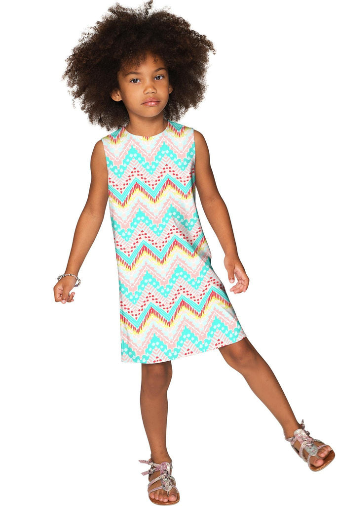 Chevron Please Adele Shift Floral Mommy and Me Dresses - Pineapple Clothing