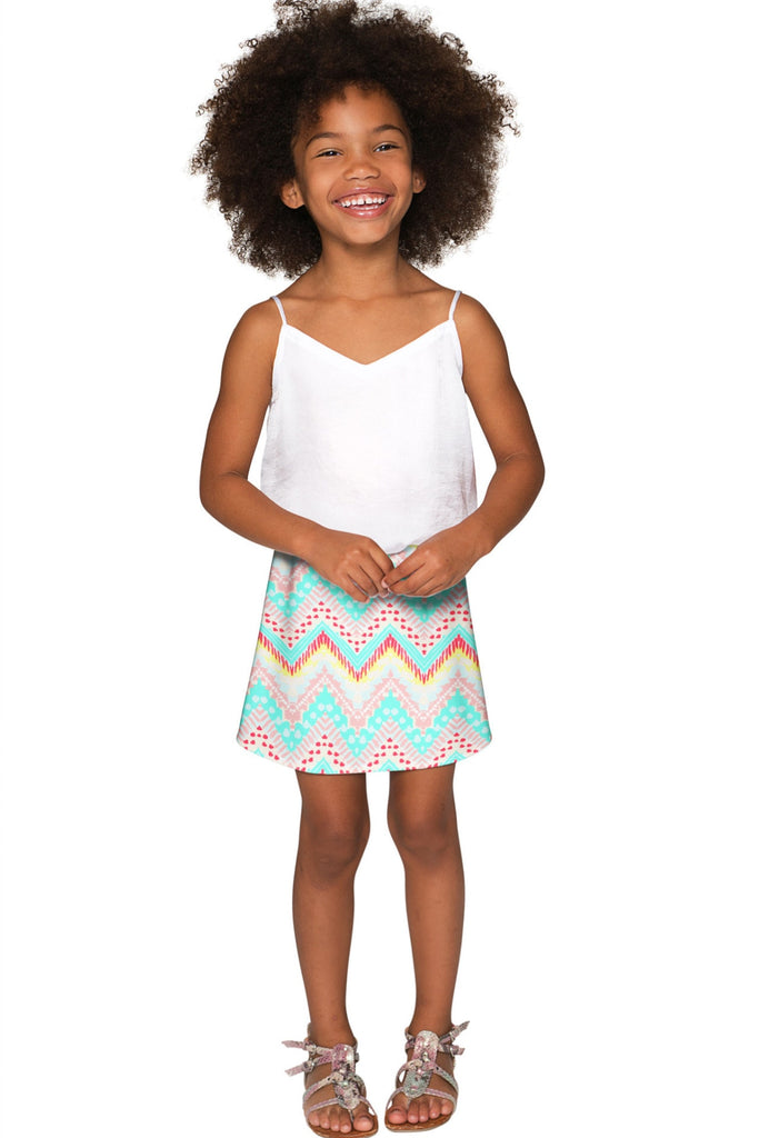 Chevron Please Aria A-Line Skirt - Girls - Pineapple Clothing