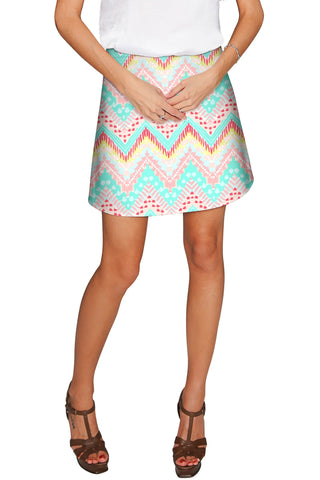 Chevron Please Aria A-Line Skirt - Women - Pineapple Clothing