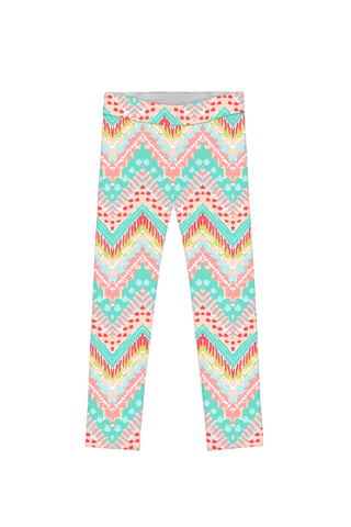 Chevron Please Lucy Cute Printed Leggings - Girls - Pineapple Clothing