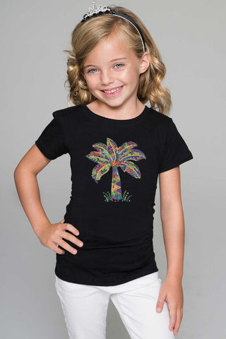 Colorful Palm Tee - Girls - Pineapple Clothing