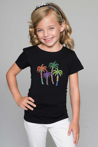 Colorful Palms Tee - Girls - Pineapple Clothing